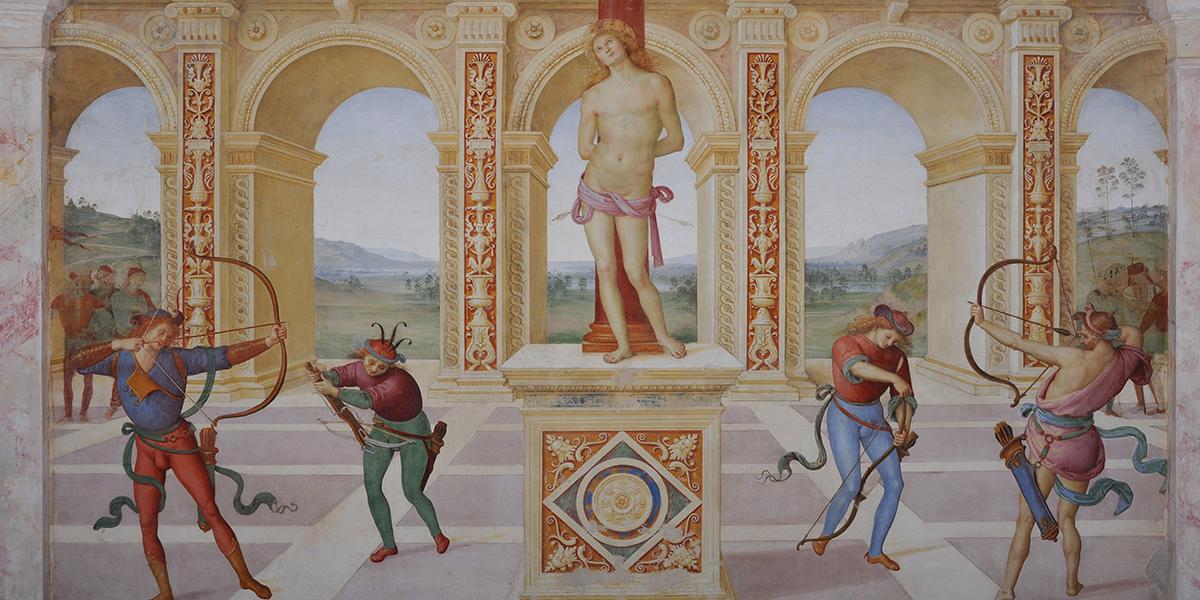 Perugino morto di peste per strada