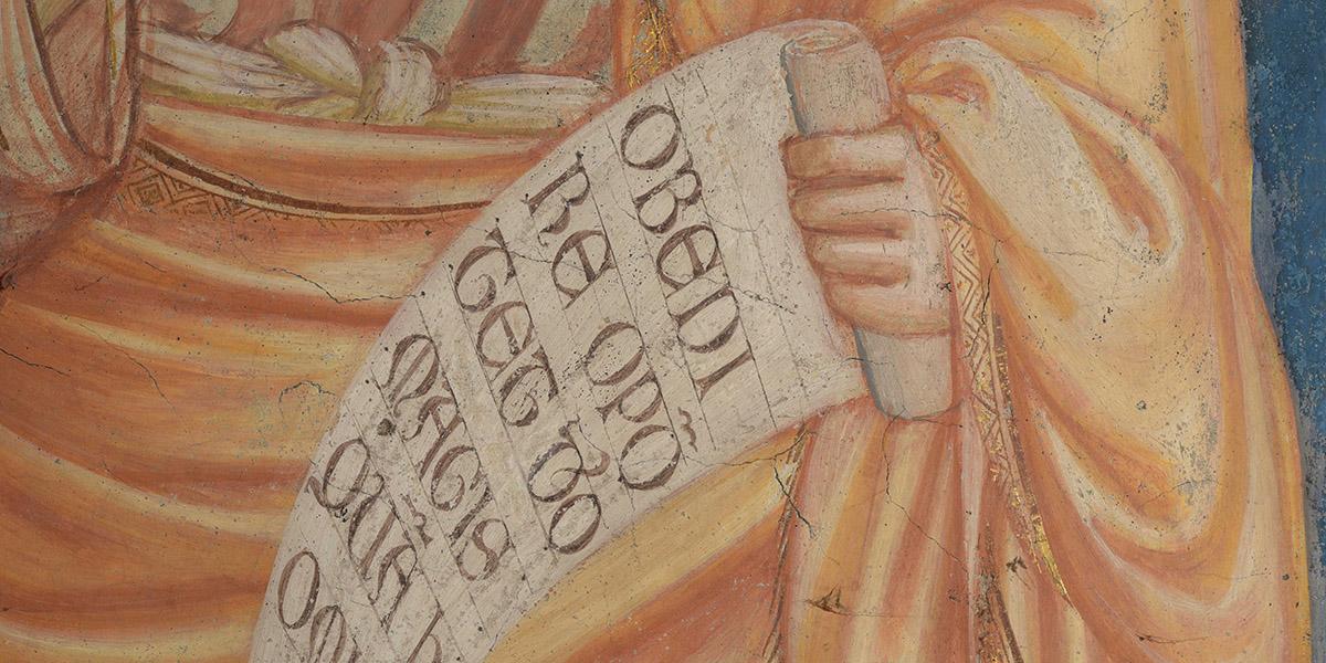 Come scriveva Giotto?