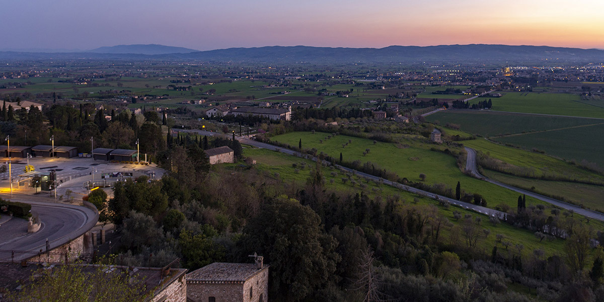Assisi, una visuale sfocata